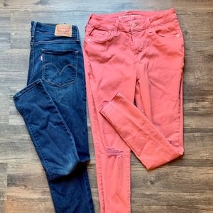Two Pairs Women's/Juniors Jeans. Levi's. Old Navy.